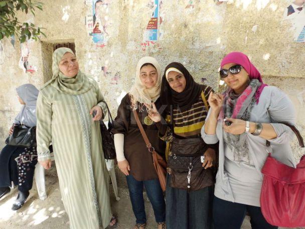 Women vote in Cairo